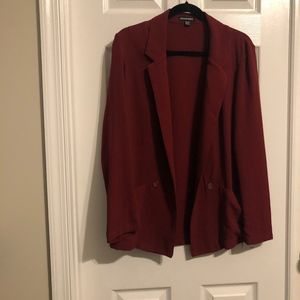 American Apparel Maroon Soft Blazer Jacket
